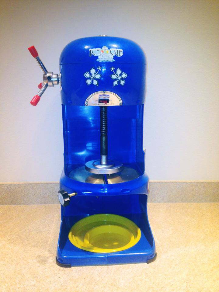 Our brand-new shaved ice/snow cone machine is here!