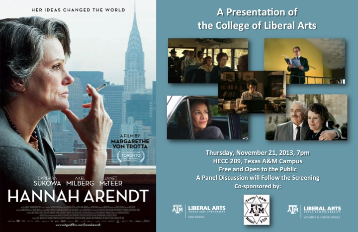Hannah Arendt Movie Screening