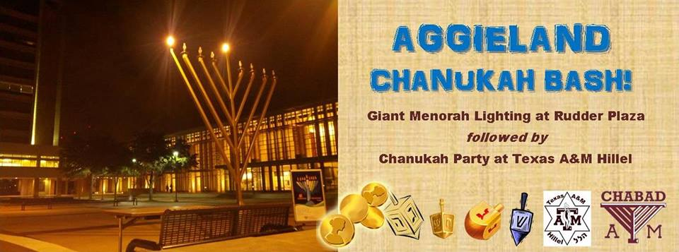 Aggieland Chanukah Bash on Monday, Dec. 2