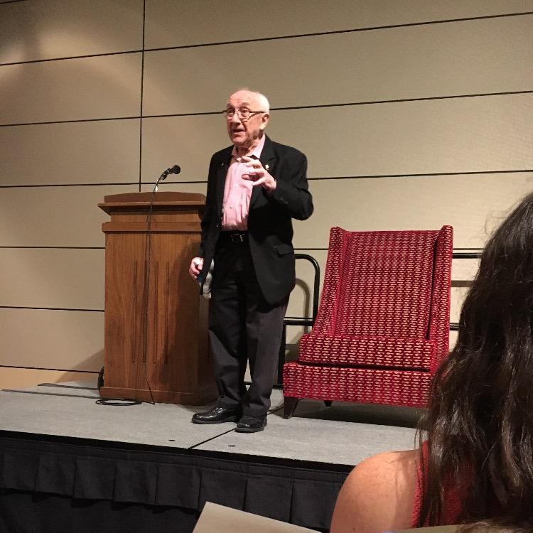 Hillel Hosts Holocaust Survivor Max Glauben
