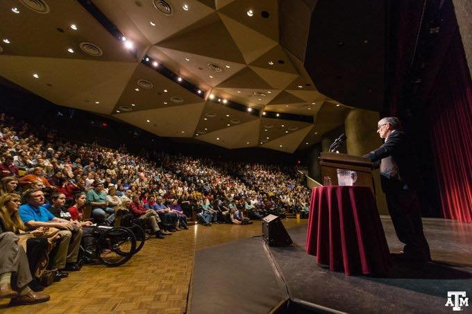 A & M Holocaust Survivor Speaks to Overflow Crowd