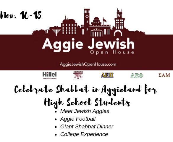 7th Annual Aggie Jewish Open House