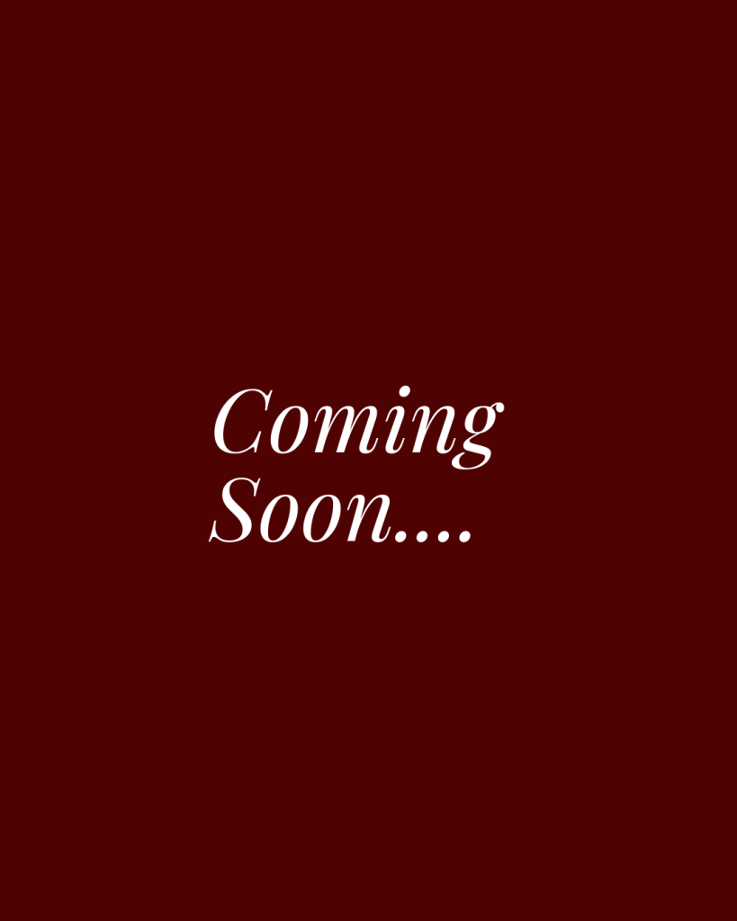 """Maroon Image that says """"Coming Soon"""""""